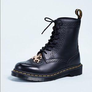 Dr Martens Leopard Heart Boots Bentley
